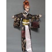 Barbie Doll Clothes : Japanese Silk Kimono with Amazing Print Fit Barbie Dolls