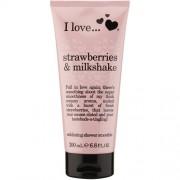 I Love Gel Dus Exfoliant Strawberries&Milkshake 200 ml