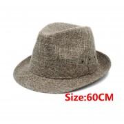60cm 7 pulgadas nueva verano Boater de sol papá playa de sol Trilby Cap Sombrero LANG(#Dark Tan 60CM)