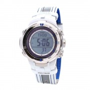 Casio PRO TREK Triple Sensor Version 3 TOUGH SOLAR Watch PRW-3000G-7 - White