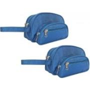 SLIZER Stylish Shaving Kit Bag Combo 2 Good Space In Low Price (Blue) Travel Shaving Bag(Blue)