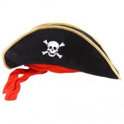 Wicked Costumes Pirate Hat Black Outfit Accessory for Caribbean Fancy Dress