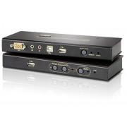 Estensore KVM USB VGA con Audio e Memoria Flash, fino 250m,...