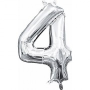 Crazy Sutra Four Number Foil Toy Balloon silver