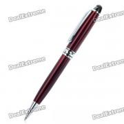 2 en 1 universal Touchpad Stylus Pen + Boligrafo para Tablet PC / PDA / movil - Rojo