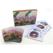 New York City, Statue Of Liberty, Empire State Building, Souvenir Playing Cards, Vacation Gift. Card Faces Feature Multiple Landmarks, Ousttanding Tourist Gift. The Two Deck Set Includes A Gold Gift Ribbon