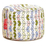 Style Homez Round Cotton Canvas Abstract Printed Bean Bag Ottoman Stool Large Cover Only Multi Color