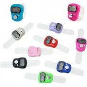 10 Pieces MINI HAND TALLY COUNTER FINGER RING DIGITAL ELECTRONIC HEAD COUNT JAPA COUNTER (Multicolor)