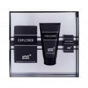 Montblanc Explorer set cadou apa de parfum 100 ml + apa de parfum 4,5 ml + balsam dupa barbierit 150 ml pentru bărbați