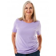 Seniors' Wear Lilac Crew Neck T-Shirt
