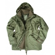 MIL-TEC 10615001 WET WEATHER JACKET WITH FLEECE LINER Taktikai Dzseki - Olive/Olivazöld