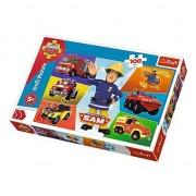 Puzzle Trefl Fireman Sam, 100 piese