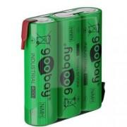 Goobay Batterie Ricaricabili NiMH 3xAA HR6 2100 mAh 3.6V a Saldare