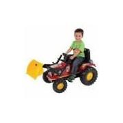 Trator Infantil Pedal Farmer Com Pá Vermelho Biemme
