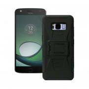 Funda Para Motorola Xt1650 Moto Z Jyx Accesorios Robot Uso Rudo Con Clip - Negro