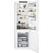 GARANTIE 2 ANI Combina frigorifica AEG, clasa A+, Dezghetare automata frigider si congelator - Pro fresh - No Frost, SCE81816TS