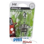 BEC FAR H4 60/55W 12V LONGER LIFE ECOVISION PHILIPS
