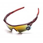 Gafas De Deporte Al Aire Libre Gafas De Equitación Unisexo -Rojo