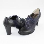 Pantofi piele naturala dama - negru, bleumarin, Nike Invest - toc inalt - M345-NBoxB2