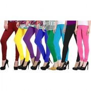 Aashish Fabrics Multicolor Viscose Leggings (Pack of 8)