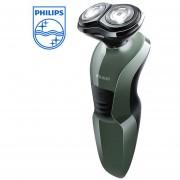 Afeitadora Philips YQ308 2D para hombre, maquinilla de afeitar antideslizante, recargable para todo el cuerpo Afeitadora eléctrica, soporte de lavado húmedo Y(azul)