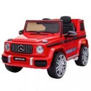 Masinuta electrica cu roti din cauciuc si scaun de piele Mercedes Benz G63 Red