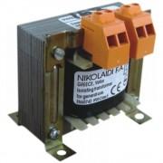 Transformator retea 380V/12V, 380V/24V, 380V/230V 60VA Nikolaidi