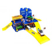 Beautiful City Play Set The Towering Busting City With Stores And Underground Parking With Ramps Stop Signs And Street Lights 2 City Busses A Helicopter A Sports Car And A Security Patrol Vehicle