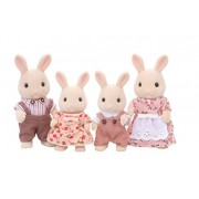 Epoch Sylvanian Families Sylvanian Family Doll Set Milk Rabbit Family Fs 09