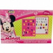 Tabla magnetica cu numere Minnie + 3 ani Multicolor