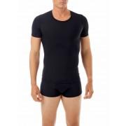 Underworks Shapewear Microfiber Light Compression Body Short Sleeved T Shirt Black 498101