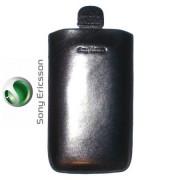Sony Ericsson Satio Кожен Калъф Черен