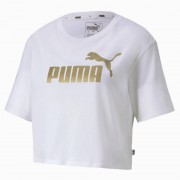Puma T-Shirt Donna Essential Cropped, Taglia: XS, Per adulto Donna, Bianco, 582410 02