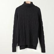 Suéter Para Mujer Con El Cuello Alto De Estilo Holgado - Negro