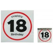 Servetele Happy Birthday 18 Ani