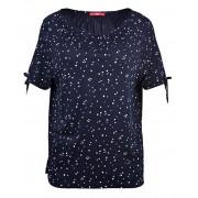 s.Oliver Dámské triko 04.899.32.5317.59C9 Blue Floral Pink 40