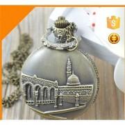 Vintage Mecca and Medina Metal Bike Car Bag Keychain Pocket Watch Clock Pendant