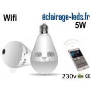 Ampoule LED E27 5W Caméra de surveillance Wifi