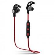 SQ-U6 Auriculares estereo Bluetooth para auriculares intra-auriculares - Negro + Rojo