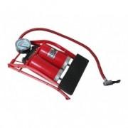 Pompa aer auto Automax de picior dubla cu 2 cilindri si manometru , 7 bar 100psi