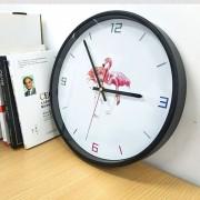 12 Inch Home Office Room Flamingo Piña Patron Decorativo De Pared No Funciona Silencioso Redondo Reloj De Cuarzo