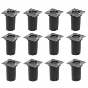 vidaXL Outdoor Ground Lights 12 pcs Square