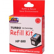 Turbo ink refill kit for HP 680 black cartridge