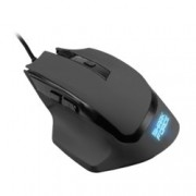 Мишка Sharkoon SHARK Force, оптична (1600 dpi), 6 бутона, подсветка, USB, черна