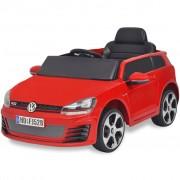 vidaXL детска кола VW Golf GTI 7с дистанционно управление, червена