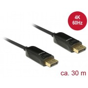 DeLock Active Optical Cable DisplayPort 1.2 male > DisplayPort male 4K 60 Hz 30m Black 85521