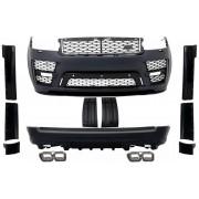 Bodykit kit estetico completo TUNING look SVO Design RANGE ROVER IV L405 2013- PASSO LUNGO paraurti anteriore posteriore calandra griglie nido d'ape terminali scarico