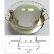 Led beépíthető spot lámpatest, üveg/arany-ezüst design, fix, MR16 foglalattal Life Light led