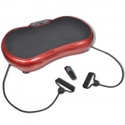 vidaXL Fitness Vibration Plate Small 200 W with Belts Red