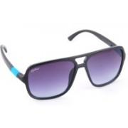 Rockford Rectangular Sunglasses(Blue)